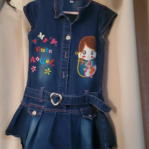 Jean dress embroidered
